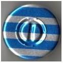 20mm Center Tear Vial Seals, Blue Stripe, Pk 100