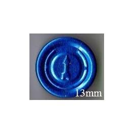 13mm Complete Tear Off Vial Seals, Sapphire Blue, Pk 100