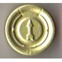 20mm Complete Tear Off Vial Seals, Gold, Pk 100