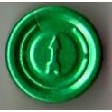 20mm Complete Tear Off Vial Seals, Green, Pk 100