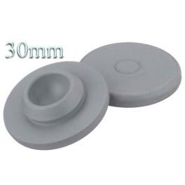 30mm Round Bottom Stopper, Gray, Pk 100