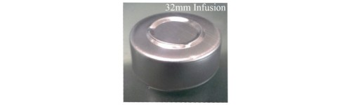 32mm Center Tear Infusion Vial Seals