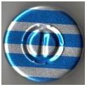 20mm Center Tear Vial Seals, Blue Stripe, Pk 100