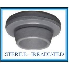 20mm Vial Stopper, Round Bottom, Irradiated, Bag of 2,000