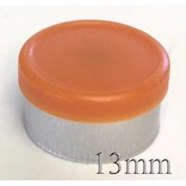 13mm Matte Flip Off Vial Seals, Rust Orange, Bag 1000