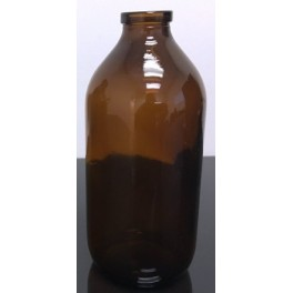 500mL Amber Infusion Serum Bottle Vials, 32mm Crimp, cs 25