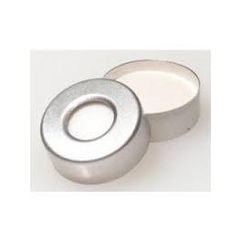 20mm Aluminum Vial Seals with Teflon Septa, pk 100