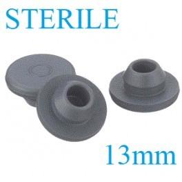 13mm Sterile Vial Stopper, Round Bottom, Bag of 1,000