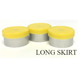 13mm Long Skirt Flip Cap Seal, Yellow, Bag of 1,000