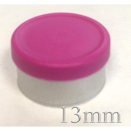 13mm Matte Flip Off Vial Seals, Magenta, Bag 1000