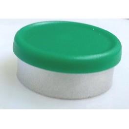 West 20mm Matte Flip Cap Vial Seal, Green, Bag 1000