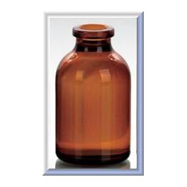 100mL Amber Serum Vials, 52x95mm, Ream of 68
