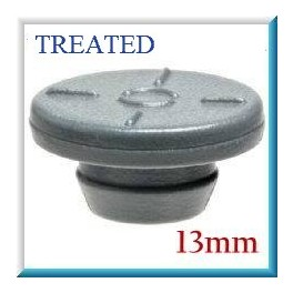 13mm Vial Stopper, Treated Round Bottom, Pack of 100