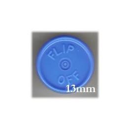 13mm Flip Off Vial Seals, Light Blue, Pack of 100
