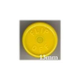 13mm Flip Off Vial Seals, Yellow, Pack of 100