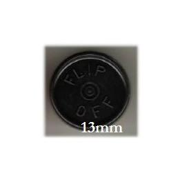 13mm Flip Off Vial Seals, Black, Pack of 100