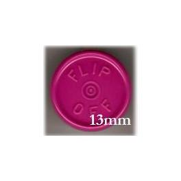 13mm Flip Off Vial Seals, Magenta, Bag of 1000