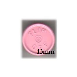13mm Flip Off Vial Seals, Gloss Pink, Case of 1000