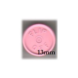 13mm Flip Off Vial Seals, Gloss Pink, Pack of 100