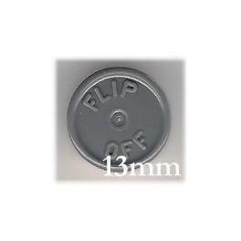 13mm Flip Off Vial Seals, Dark Gray, Case of 1000