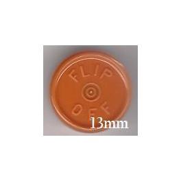 13mm Flip Off Vial Seals, Rust Orange, Case of 1000