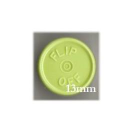 13mm Flip Off Vial Seals, Faded Light Green, Pk 100