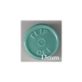 13mm Flip Off Vial Seals, Slate Blue Green, Pk 100