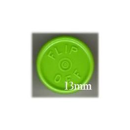 13mm Flip Off Vial Seals, Willow Green, Pack 100