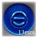 13mm Center Tear Vial Seals, Sapphire Blue, Bag of 1000