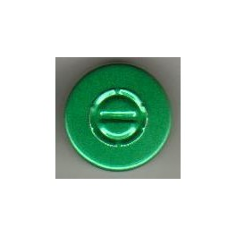 20mm Center Tear Vial Seals, Green, Bag 1000