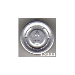 13mm Complete Tear Off Vial Seals, Natural, Pk 100