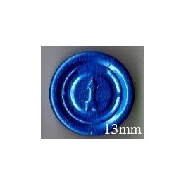 13mm Complete Tear Off Vial Seals, Sapphire Blue, Pk 100