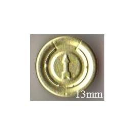 13mm Complete Tear Off Vial Seals, Gold, Pk 100