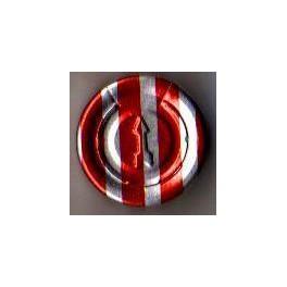 20mm Complete Tear Off Vial Seals, Red Stripe, Bag 1000