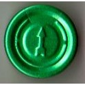 20mm Complete Tear Off Vial Seals, Green, Pk 100