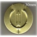 30mm Complete Tear Off Vial Seals, Gold, Pk 250