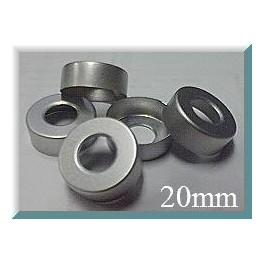 20mm Hole Punched Vial Seals, Natural, Bag 1000