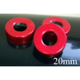 20mm Hole Punched Vial Seals, Red, Bag 1000