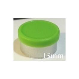 13mm Matte Flip Off Vial Seals, Willow Green, Bag 1000