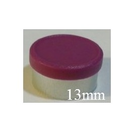 13mm Matte Flip Off Vial Seals, Burgundy Violet, Bag 1000