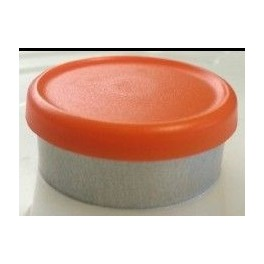 West 20mm Matte Flip Cap Vial Seal, Orange Peel, Bag 1000