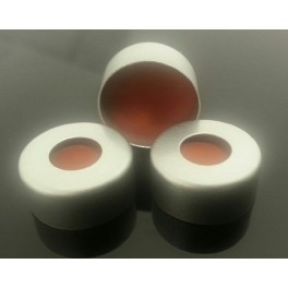 13mm Aluminum Vial Seals with Teflon Septa, pk 100