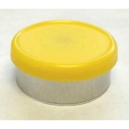 West 20mm Matte Flip Cap Vial Seal, Yellow, Bag 1000