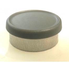 West 20mm Matte Flip Cap Vial Seal, Dark Gray, Bag 1000