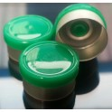 13mm West Gloss Flip Cap Vial Seal, Green, Bag 1000
