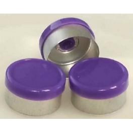 13mm West Gloss Flip Cap Vial Seal, Purple, Bag 1000