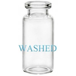 Washed 10mL Clear Serum Vials, 24x50mm, Case of 756